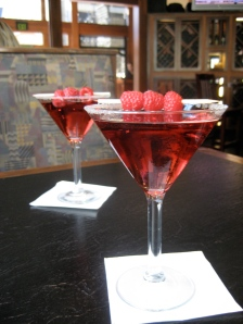 Two Raspberry Cocktails